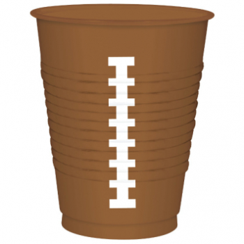 Picture of FOOTBALL - 16oz PLASTIC FOOTBALL CUPS