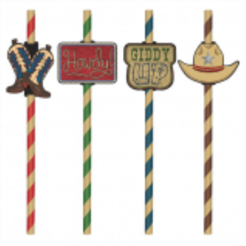 Image de DECOR - WESTERN STRAWS WITH ADD-ONS