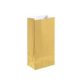 Image de GOLD FOIL MINI PAPER BAG - 12PK