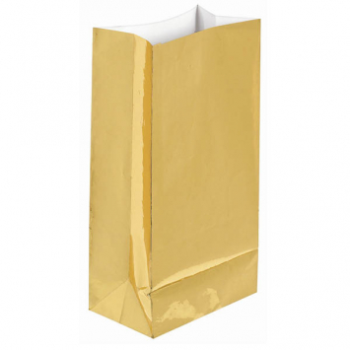 Picture of GOLD FOIL LARGE PAPER BAG - 12PK