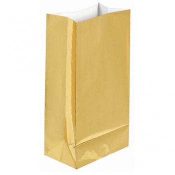 Image de GOLD FOIL LARGE PAPER BAG - 12PK