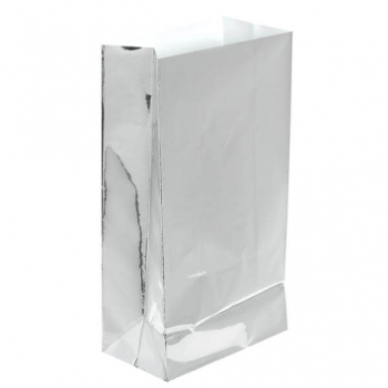 Picture of SILVER FOIL LARGE PAPER BAG - 12PK