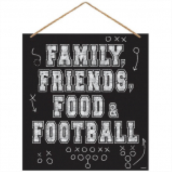 Picture of FOOTBALL WALL SIGN WITH ROPE HANGER