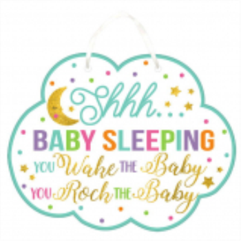 Picture of DON'T WAKE THE BABY SIGN