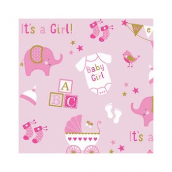 Picture of JUMBO GIFT WRAP - BABY GIRL ELEPHANT