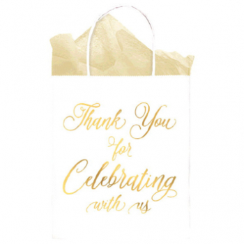 Picture of THANK YOU FOR CELEBRATING WITH US KRAFT BAG - 10PK
