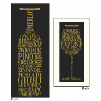 Picture of BOTTLE BAG - GOLD BOTTLE PRINT