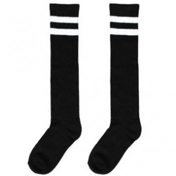 Picture of BLACK STRIPE KNEE SOCKS