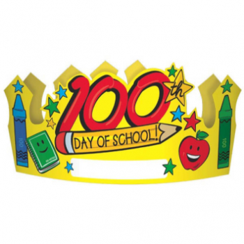 Picture of 100TH DAY OF SCHOOL PAPER CROWNS