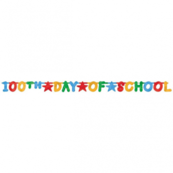 Picture of 100TH DAY OF SCHOOL LARGE FOIL LETTER BANNER