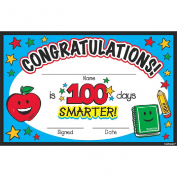 Picture of 100TH DAY OF SCHOOL CERTIFICATE PACK 36CT