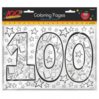 Picture of 100TH DAY OF SCHOOL COLORING PAGES