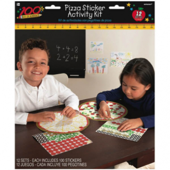 Picture of 100TH DAY OF SCHOOL PIZZA STICKER ACTIVITY BOOK