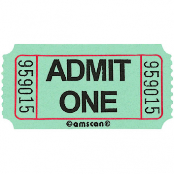 Image de GREEN SINGLE ADMIT ONE TICKET - 2000 PER ROLL