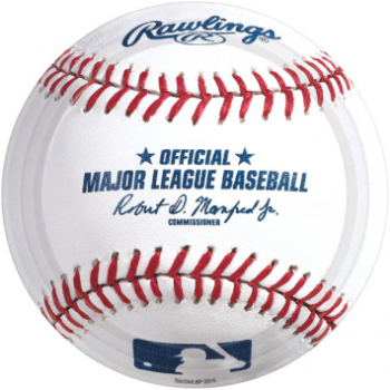 """Picture of BASEBALL 7"""" ROUND PLATE"""