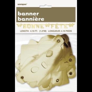 Picture of BONNE FÊTE BANNIÈRE OR