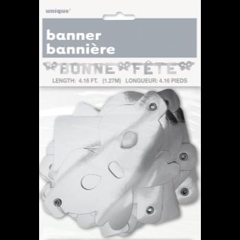 Picture of BONNE FÊTE BANNIÈRE ARGENT
