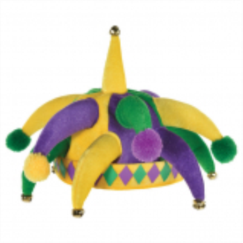 Picture of MARDI GRAS SPIKE PLUSH  JESTER HAT