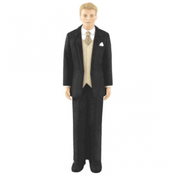 Picture of BLONDE HAIR GROOM CAKE TOPPER