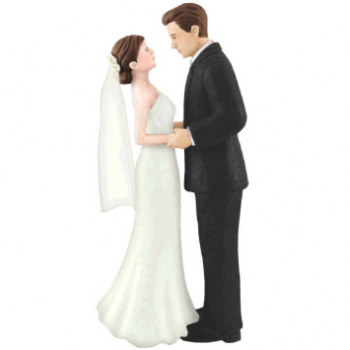 Picture of BRIDE AND GROOM CAKE TOPPER