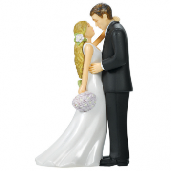 Picture of BRIDE AND GROOM CAKE TOPPER WITH BOUQUET