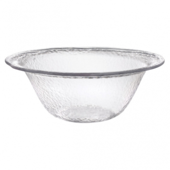 Image de SERVING WARE - HAMMERED CLEAR SERVING  BOWL - 1.8GALLON