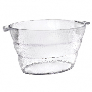 Image de SERVING WARE - HAMMERED BEVERAGE CLEAR TUB WITH HANDLE