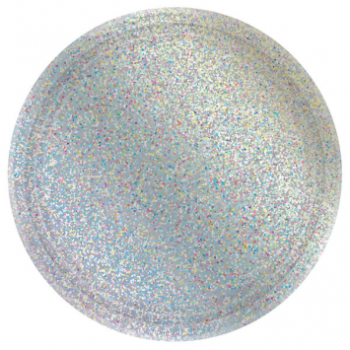 "Picture of 7"" PRISMATIC PLATES - SILVER 8CT"