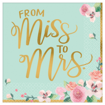 Picture of MINT TO BE LUNCHEON NAPKINS - 16CT FROM MISS TO MRS