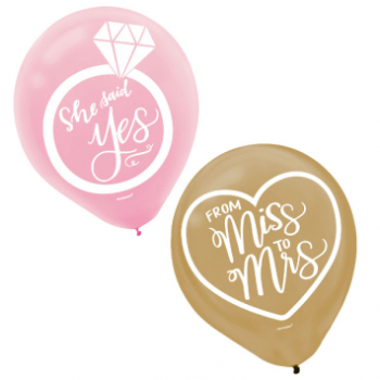 Image de MINT TO BE LATEX BALLOONS - 15PK