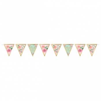Picture of MINT TO BE PENNANT BANNER - FLORAL