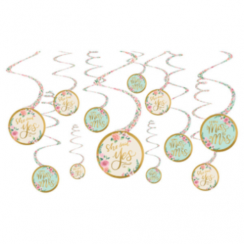 Picture of MINT TO BE SWIRL DECORATIONS