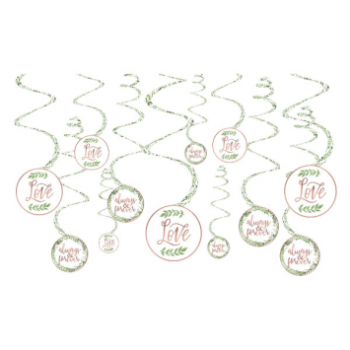 Image de LOVE AND LEAVES SWIRL DECORATIONS