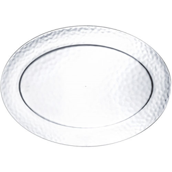 Image de SERVING WARE - HAMMERED CLEAR OVAL PLATTER