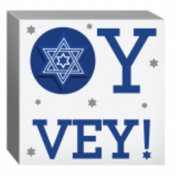 Picture of PASSOVER - OY VEY SQUARE STANDING PLAQUE