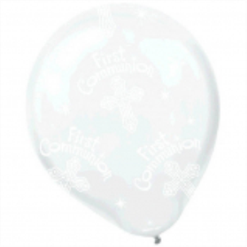 "Picture of 11"" LATEX BALLOONS - COMMUNION CLEAR"