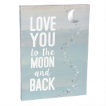 Image de LOVE YOU TO THE MOON AND BACK WALL PLAQUE