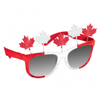 Image de CANADA DAY MAPLE LEAF GLASSES
