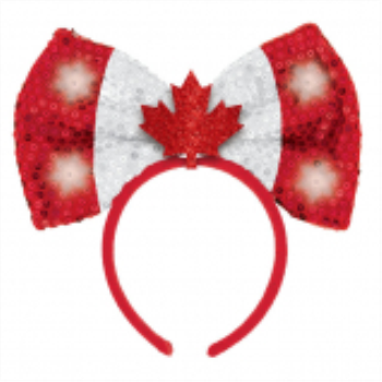 Image de CANADA DAY LIGHT UP SEQUIN BOW HEADBAND
