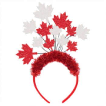 Image de CANADA DAY MAPLE LEAF SPRAY HEADBAND
