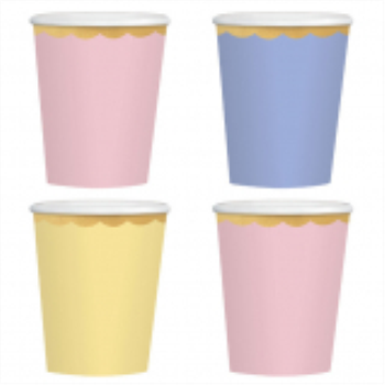 Image de 12oz PAPER CUPS PASTEL ASSORTED