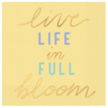 Picture of LIVE LIFE IN FULL BLOOM BEVERAGE NAPKINS