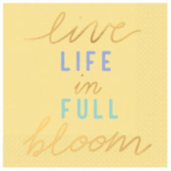 Image de LIVE LIFE IN FULL BLOOM BEVERAGE NAPKINS