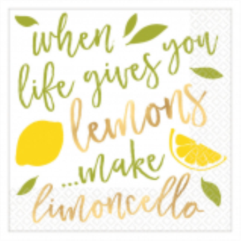 Picture of WHEN LIFE GIVES YOU LEMONS HOT STAMPED BEVERAGE NAPKINS