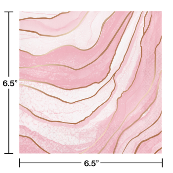 Image de MARBLE ROSE ALL DAY FOIL LUNCHEON NAPKINS