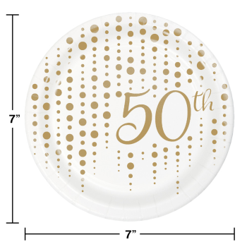 "Picture of 50th SPARKLE AND SHINE FOIL 7"" PLATE"