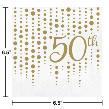 Picture of 50th SPARKLE AND SHINE LUNCHEON NAPKINS