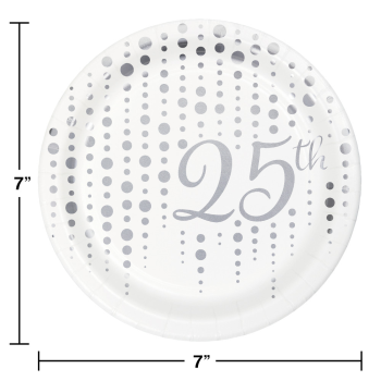 "Picture of 25th SPARKLE AND SHINE FOIL 7"" PLATE"