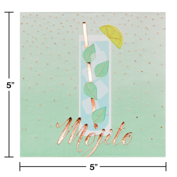 Picture of MOJITO FOIL STAMPED BEVERAGE NAPKINS