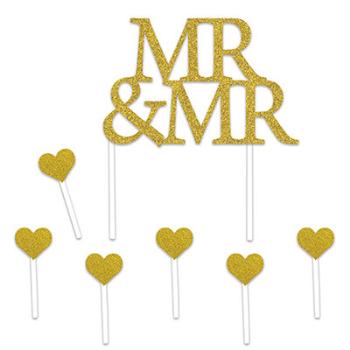 Picture of MR & MR CAKE TOPPER